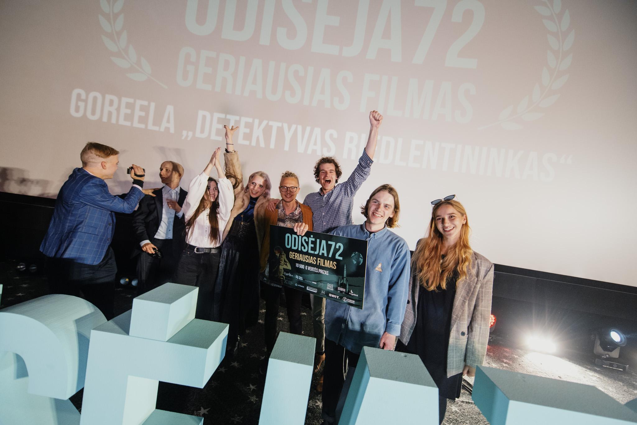 """Emocingas """"ODISĖJA72"""" festivalio finalas: filmų premjera ir geriausius filmus sukūrusių komandų apdovanojimai"""